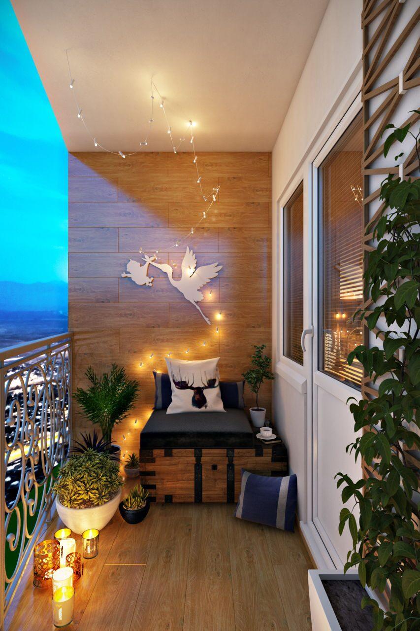 Дизайн балкона - интерьеры квартир, домов - myhome.ru.